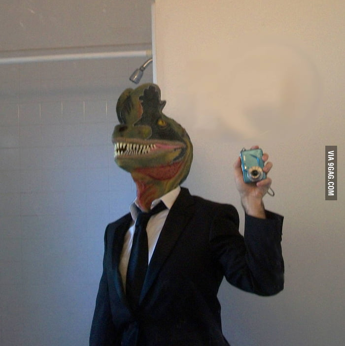 You got horse mask? I got dinosaur mask!