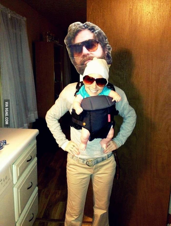 Dressed up as Baby Carlos in Hangover