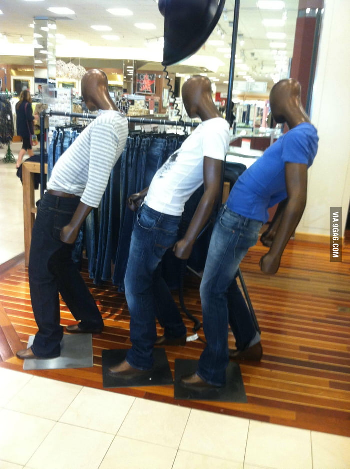 Saw these weird pose mannequins at Macy's.