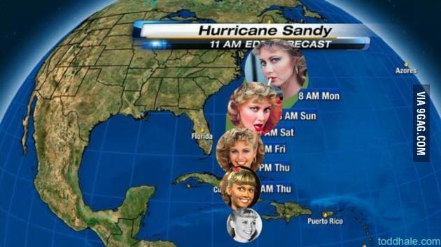 Hurricane Sandy timeline