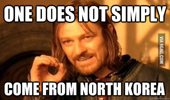 Whenever someone asks me which Korea I come from.
