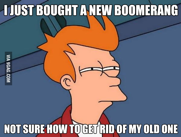 How to get rid off a boomerang ?