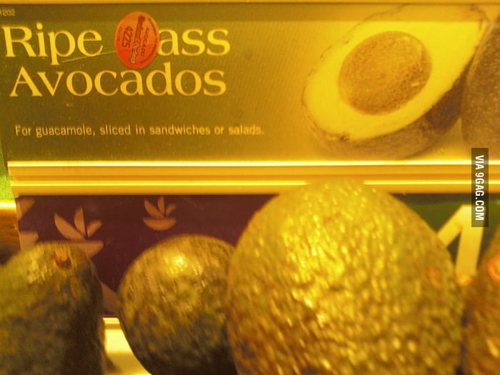 The best kind of avocados.
