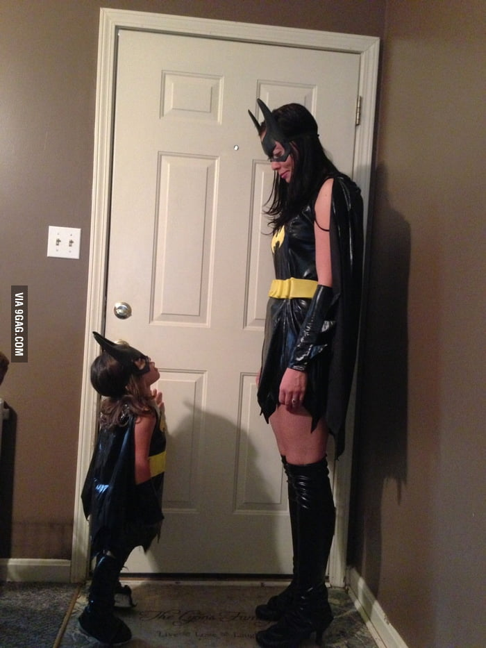 My friend and her daughter have a Batgirl showdown!