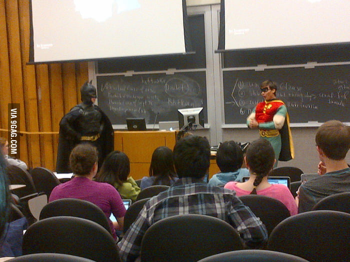 My friend's professor and TA in class today