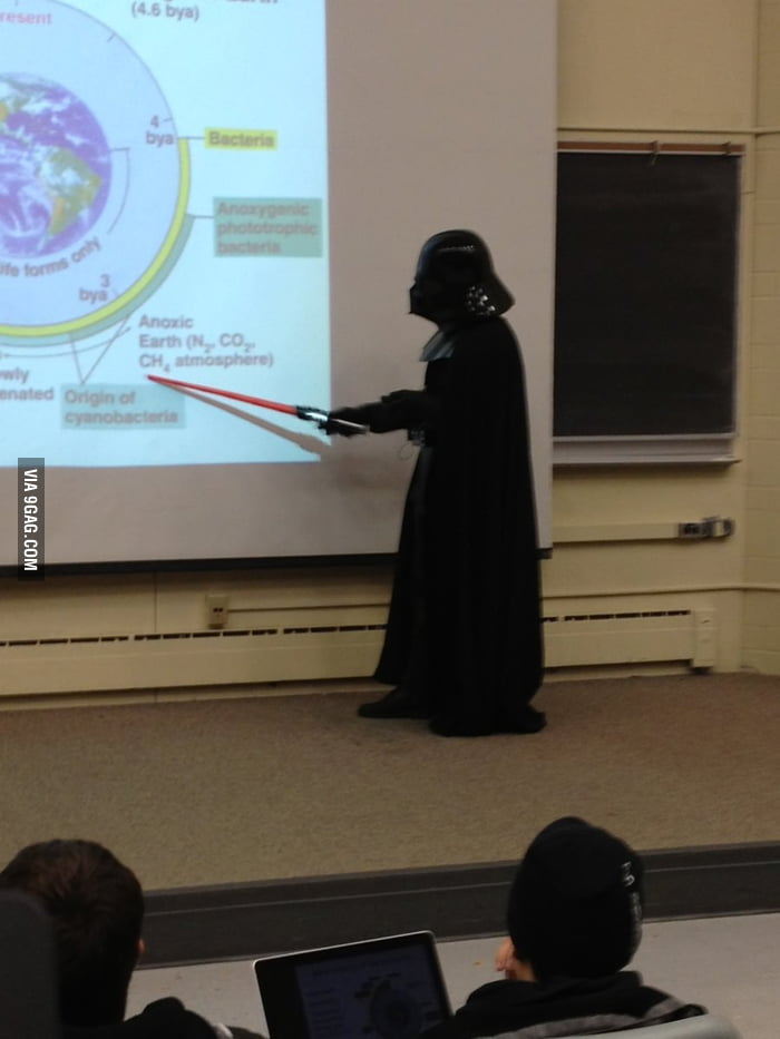 My microbiology professor did the entire lecture like this.