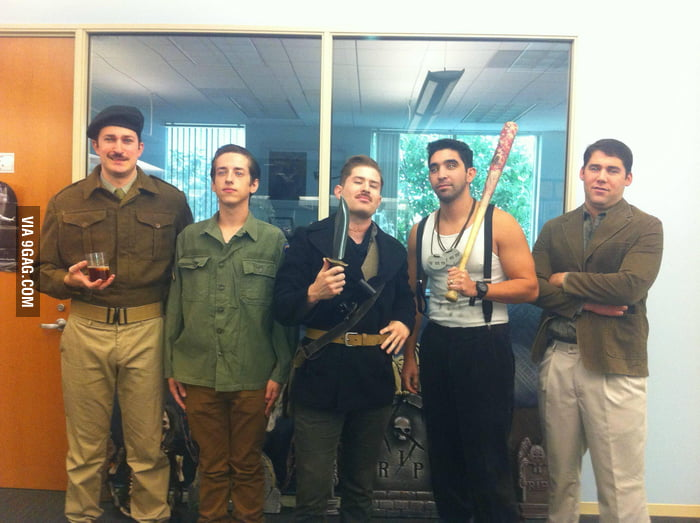 We dressed as the Inglourious Basterds to go to work.