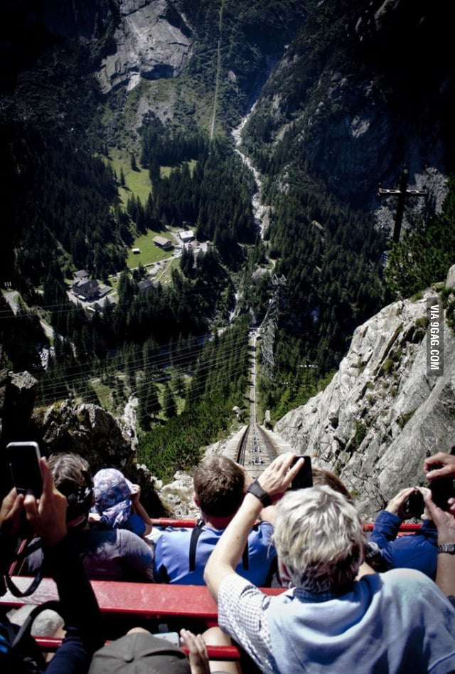 Got the balls to try the Gelmerbahn cable in Switzerland?