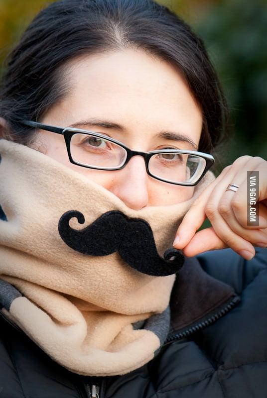 Mustache Neck Warmer