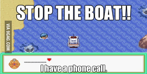 STOP THE BOAT!!