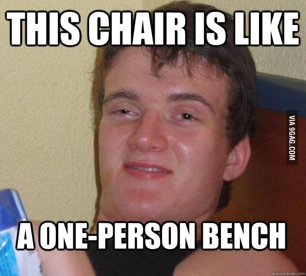 10 Guy takes a seat.