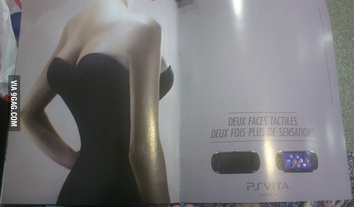 WTF Ad from Sony: PS Vita is like having a girl with 4 boobs