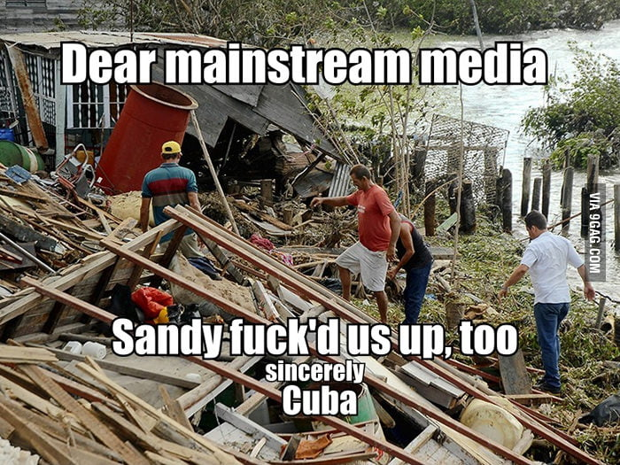 The news about Hurricane Sandy is mostly about US.