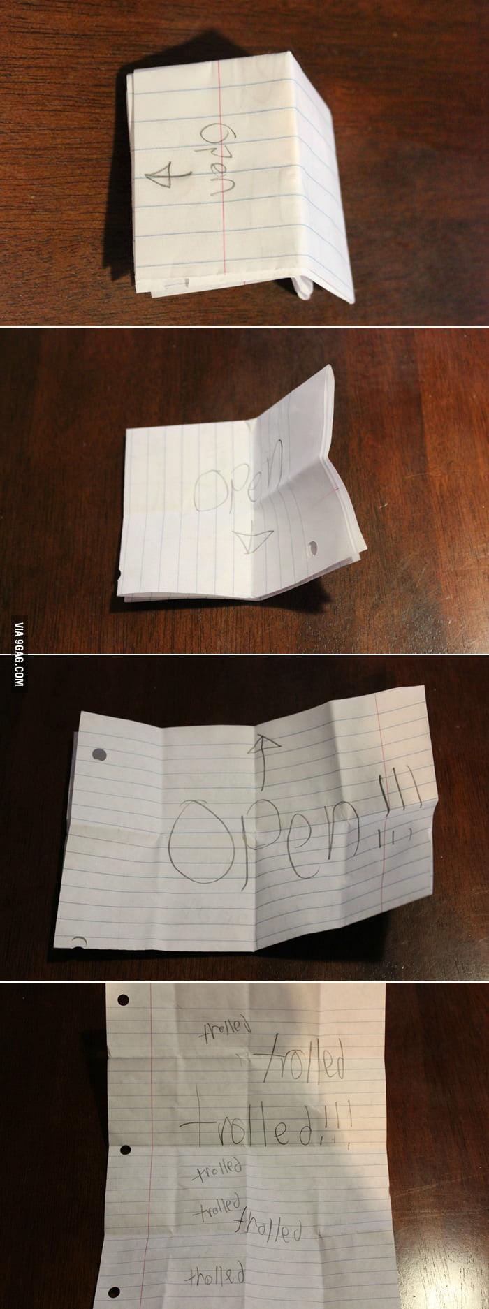 Caught my students deliberately passing a note in class.