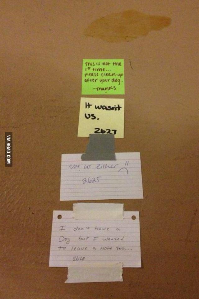 Hallway Note Wars