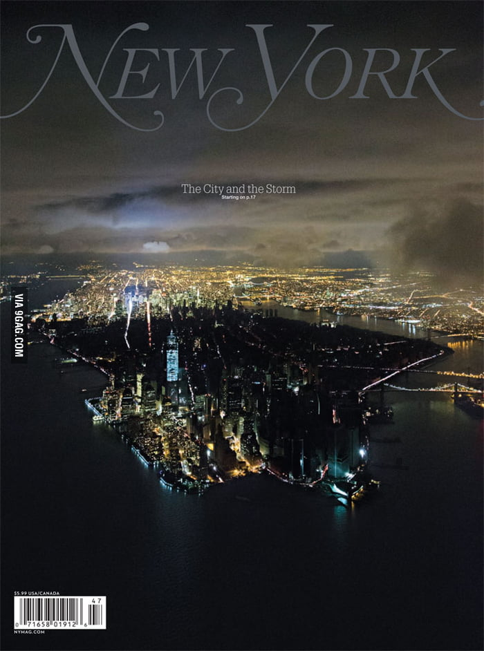 Stunning cover of this week's New York Magazine.