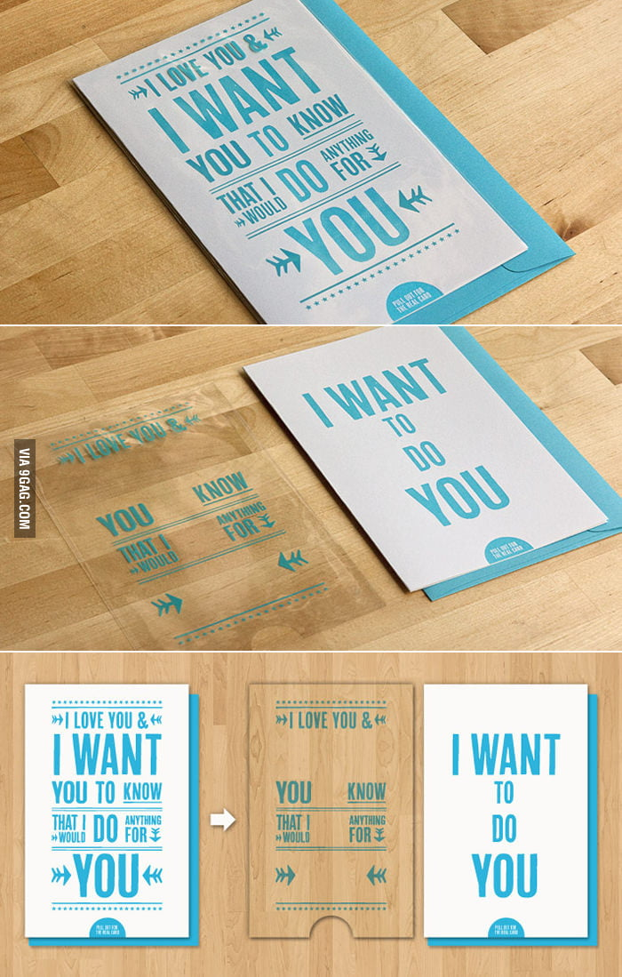 """I Want To Do You"" Card"