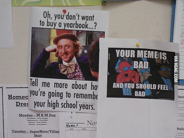The yearbook staff at the school decided to adver