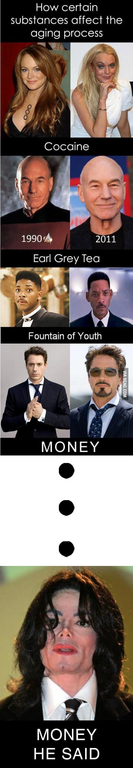 He said money..