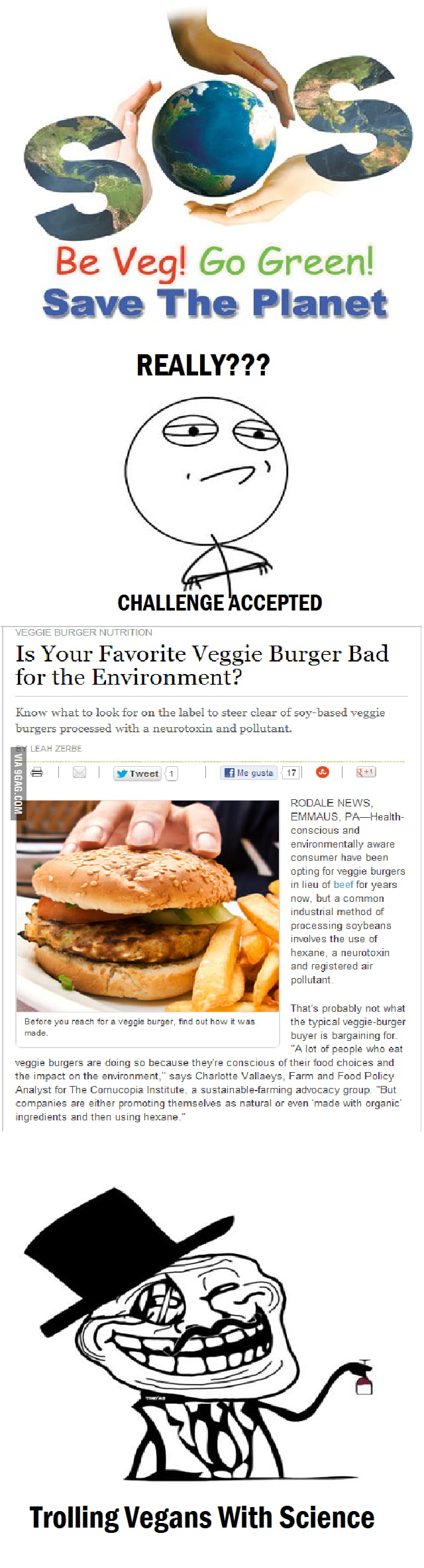 Trolling Vegans with Science