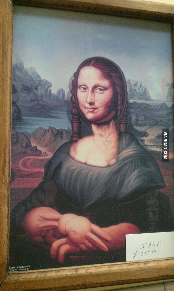 Saw this special kind of Mona Lisa