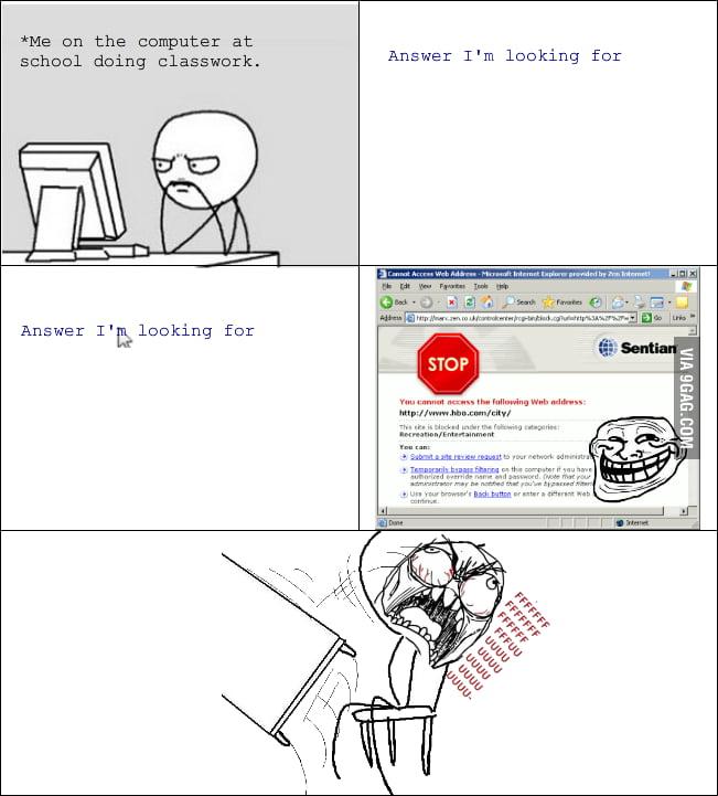 I hate website filter at school!
