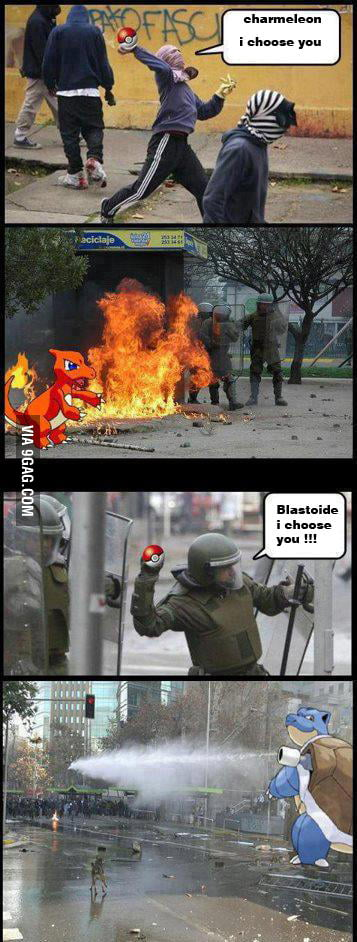 Real Pokemon Battle