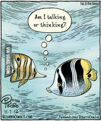 The problem of being a fish in comics.