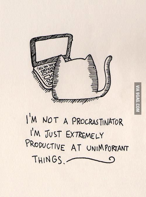I would never procrastinate!