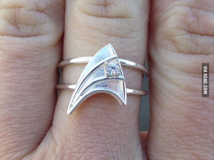 Got this Star Trek engagement ring.