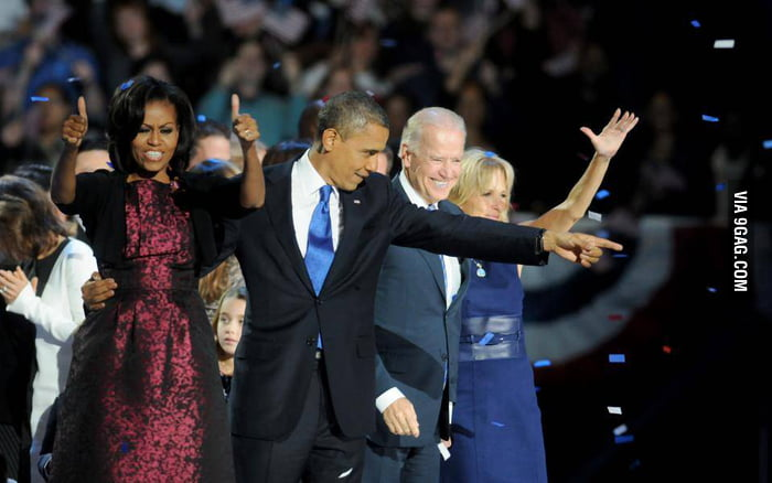 President Obama always has cool pose.