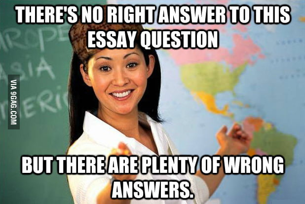 My teacher always says this.