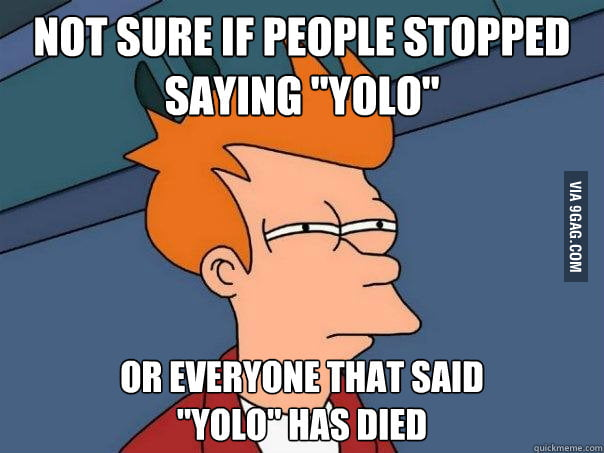 "Not Sure Fry Ponders ""YOLO"""