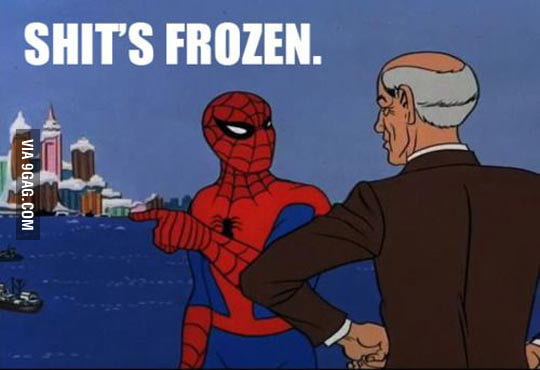 The east coast in US right now.