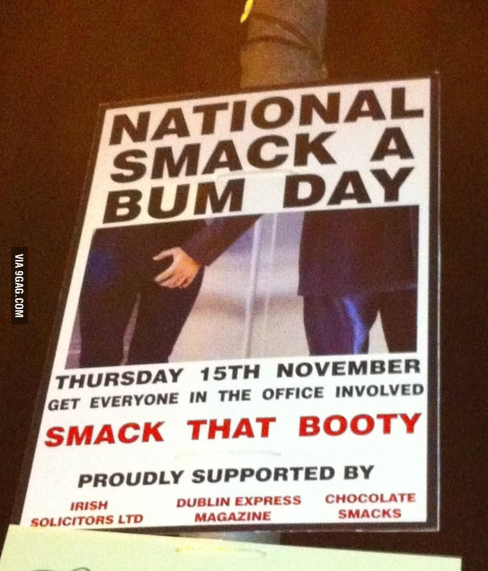 """National Smack A Bum Day"" in Dublin"