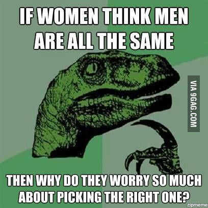 If women think men are all the same...