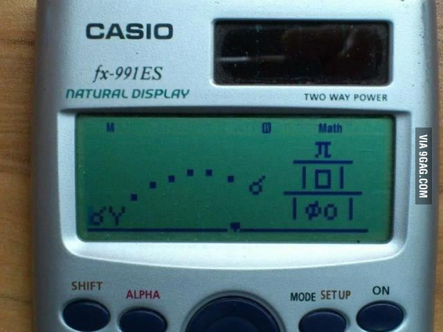Angry Birds level: Casio fx 991ES
