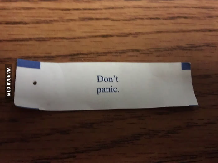 The best fortune cookie message I've ever got.