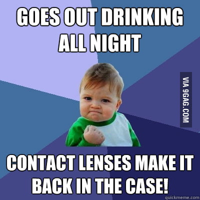 People with contact lenses know this is a big accomplishment