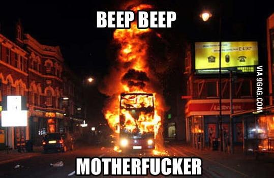 Beep beep, I'm a bus!