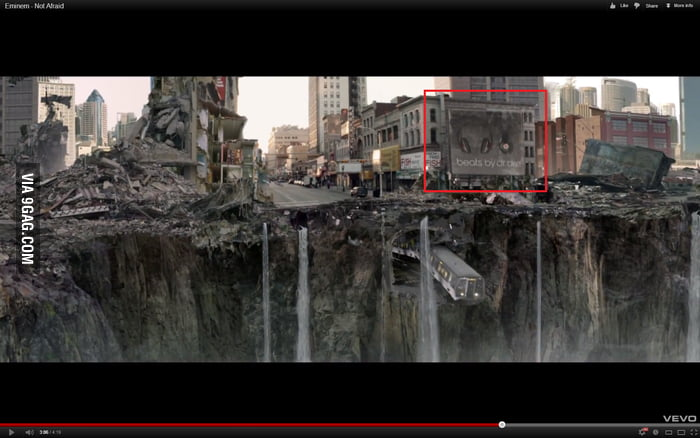 Clever advertising in Eminem's 'not afraid' video