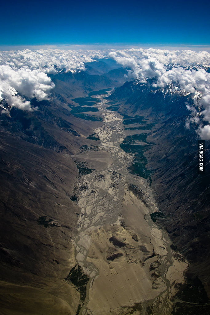 Parting of the clouds in the Himalayas
