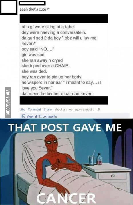 THAT POST GIVE ME  CANCER..