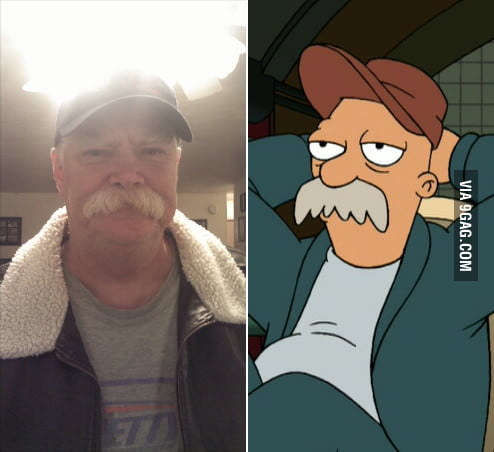 My uncle looks just like Scruffy the Janitor from Futurama
