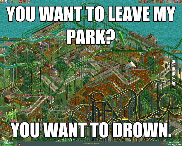 Good memory with Roller Coaster Tycoon.