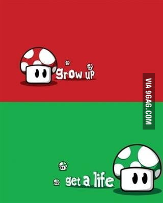 Grow up, and get a life