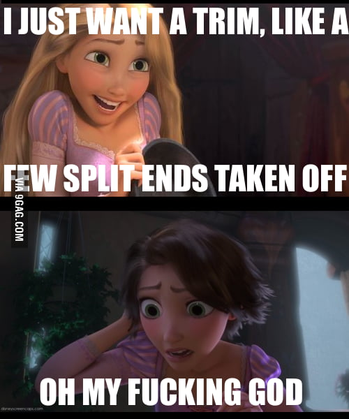 Every time at the hairdressers