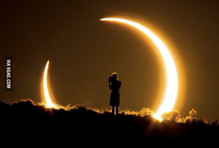 Solar Eclipse in New Mexico.