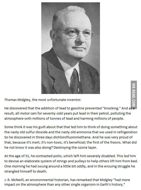 Thomas Midgley, the most unfortunate inventor.
