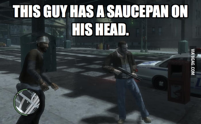 Playing GTA IV and saw this guy.